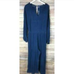 NWT OLD NAVY Long Sleeve Blue Jumpsuit Romper XXL